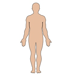 silhouette of human vector image