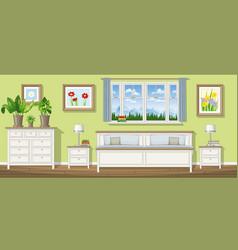 a classic bedroom vector image