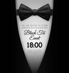 A4 elegant black tie event invitation template vector