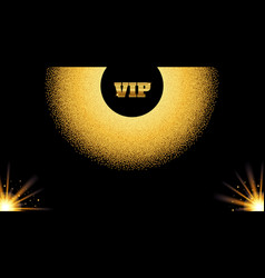 Abstract golden vip invitation card with glow vector
