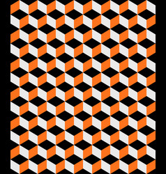 Abstract orange and black cubes background vector