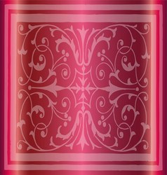 Abstract Pink Background of Elegant Vintage Floral vector image