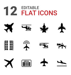 airline icons vector image