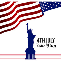 american independence day design card vector image