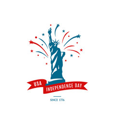 American national holiday 4th of july usa vector