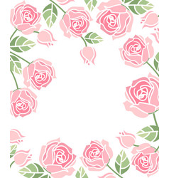 Background with pink roses vector