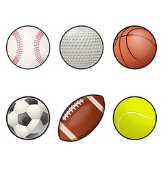 Ball icons collection vector