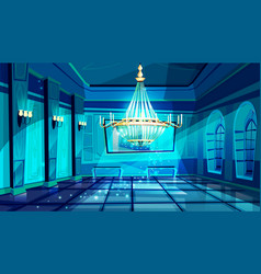 Ballroom night hall vector
