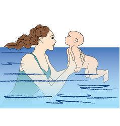 Baswims swimming lesson vector