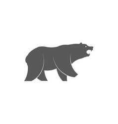 bear icon on white background vector image