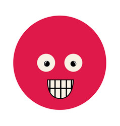 colorful emoticon surprised face expression vector image