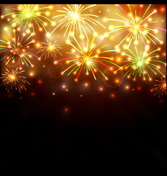 colorful firework background vector image
