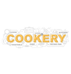 Cookery icons for education graphic design vector