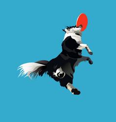 Dog-frisbee1 vector