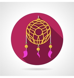 Dream catcher colored icon vector