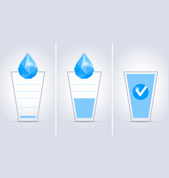 drink water glass concept vector image