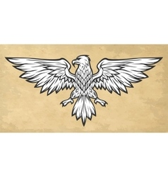 Eagle mascot spread wings vintage style vector