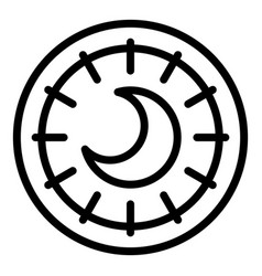 Esoteric moon icon outline style vector