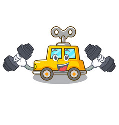 Fitness character clockwork car for toy children vector