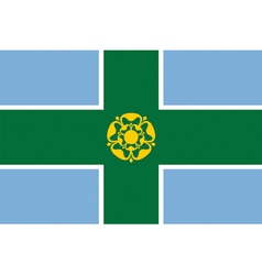 Flag of Derbyshire vector