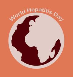 Flat icon on theme world hepatitis day vector
