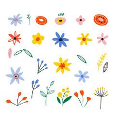 Floral bouquet design set flat spring vector