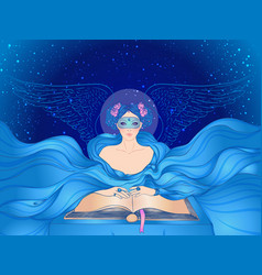 Fortune telling young beautiful woman in mask vector