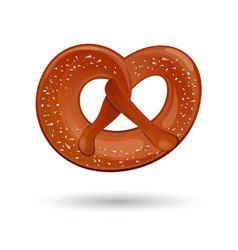 fresh tasty pretzel for oktoberfest vector image