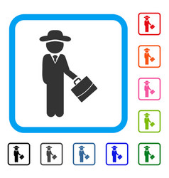 gentleman manager framed icon vector image