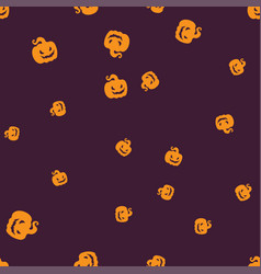Gourd halloween pattern seamless color vector