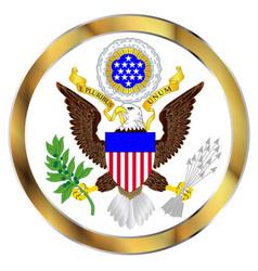 Great seal america vector
