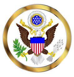 Great seal of america vector
