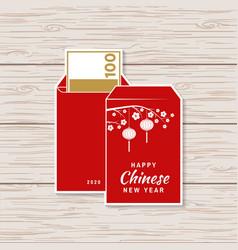 Happy chinese new year sticker design vector