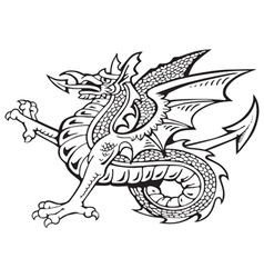 Heraldic dragon No8 vector