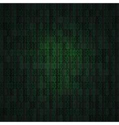 Hex-code digital background vector