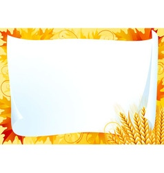 Horizontal card for thanksgiving vector