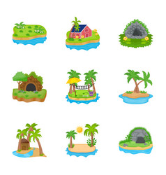 Island icons vector