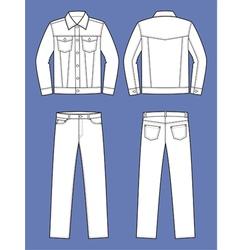 Jeans wear vector image
