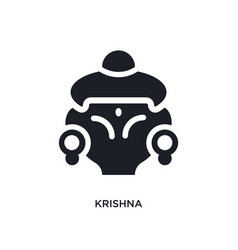 Krishna isolated icon simple element from india vector