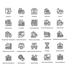 Logistic delivery icons set 2 vector