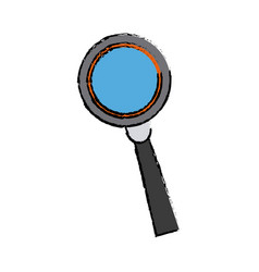 Magnifying glass analysis business element icon vector