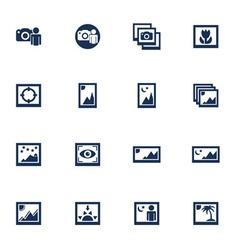 Media photo icons vector image
