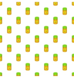 Medical marijua bottle pattern cartoon style vector