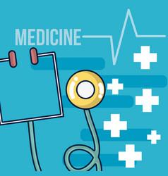 medicine equipment cartoons vector image