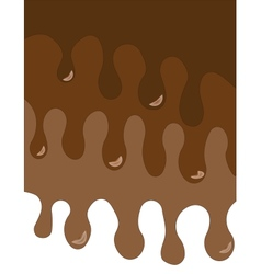 Melted chocolate card vector