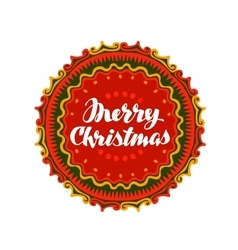 Merry Christmas Festive banner with decorative vector