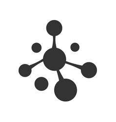 Molecule icon dna sign biotechnology logo vector