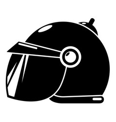 Motorcycle helmet scooter icon simple black style vector