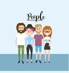 nice people together with clothes design vector image