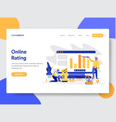 online rating concept vector image